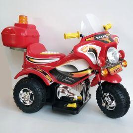 MIKO Ηλεκτροκίνητη μηχανή 6V, HL-218 σε κόκκινο