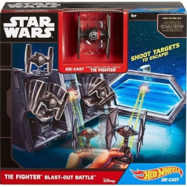 Hot Wheels Star Wars Starship Tie Fighter Blast-Out Battle, CMT37