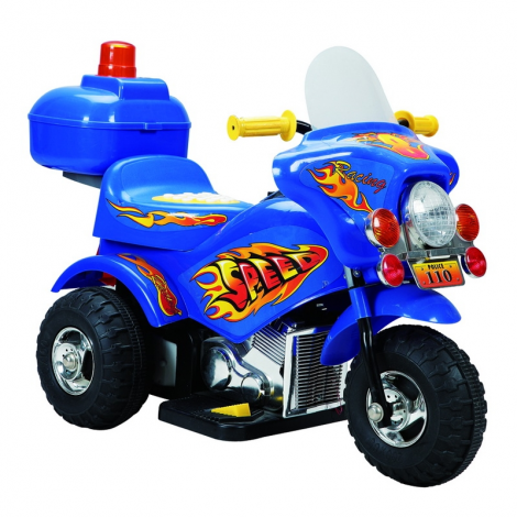 MIKO Ηλεκτροκίνητη μηχανή 6V, HL-218 σε μπλε