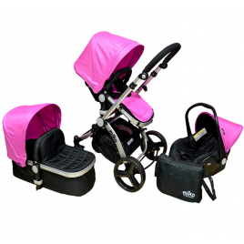 Πολυκαρότσι MIKO Travel System, Pink