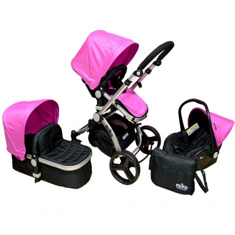 Πολυκαρότσι MIKO Travel System, Pink