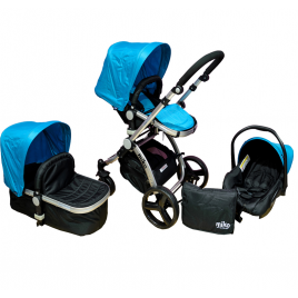 Πολυκαρότσι MIKO Travel System, Blue