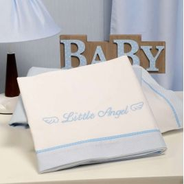 Σετ σεντόνια Baby Oliver, Little Angel Blue 321