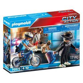 Playmobil City Action Αστυνομικός Με Ποδήλατο Και Πορτοφολάς 70573