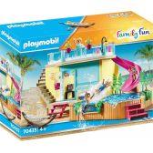 Playmobil Family Fun Μπανγκαλόου Με Πισίνα 70435