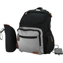Τσάντα-Αλλαξιέρα Bebe Stars με USB Moon Grey 590-189