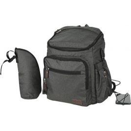 Τσάντα-Αλλαξιέρα Bebe Stars με USB Graphite 590-188