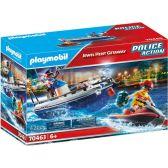 Playmobil Αστυνομικό Ταχύπλοο Και Ληστής Με Jet Ski 70463