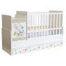 Πολυμορφικό κρεβάτι Polini Kids, Simple 1100 σε άσπρο/ulme
