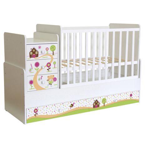 Πολυμορφικό κρεβάτι Polini Kids, Simple 1100 Pandas